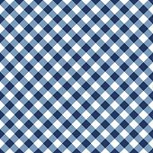 Blue and white tablecloth seamless diagonal pattern.