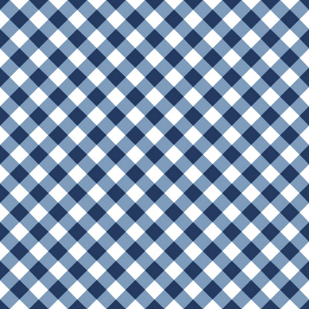 Blue Tablecloth Pattern vector art illustration