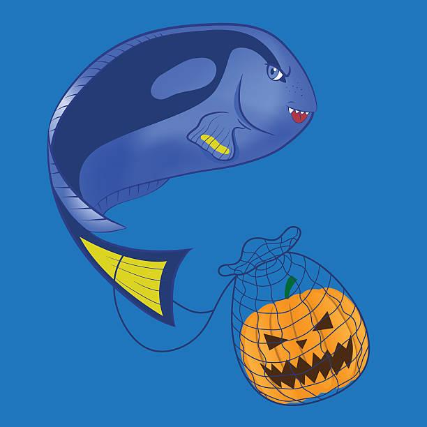 Blue tang vector art illustration