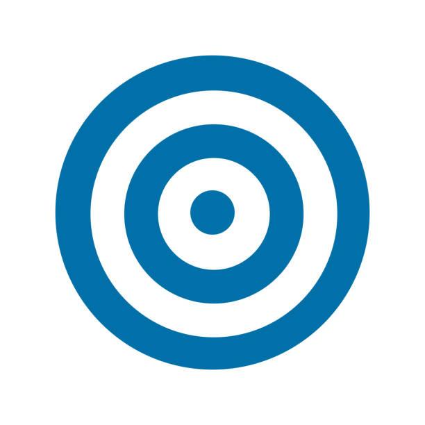 Blue target icon Blue target icon. Vector illustration bull's eye stock illustrations