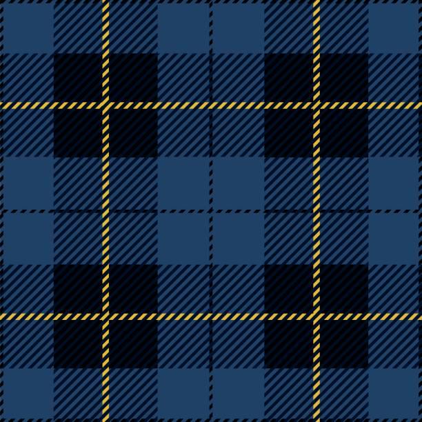 blue tartan plaid - stripped pattern stock illustrations, clip art, cartoons, & icons