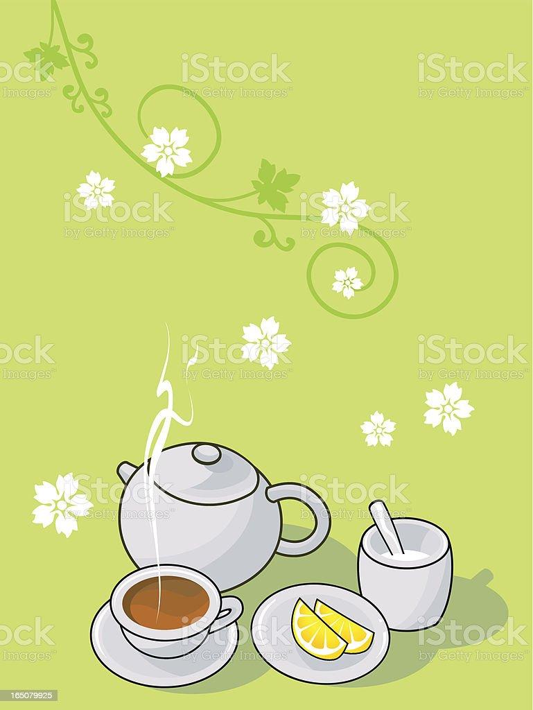 blue tea royalty-free stock vector art