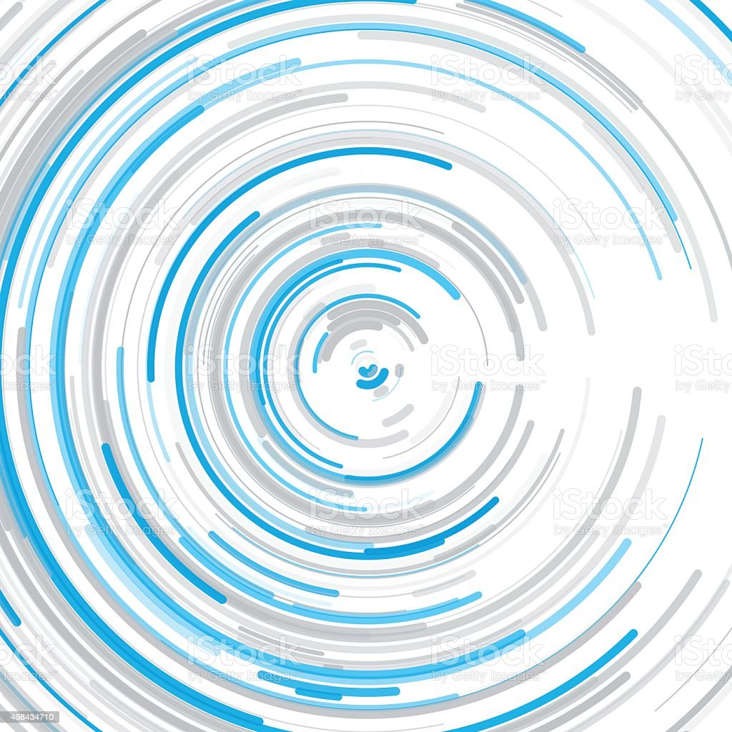 Blue Tec Concentric Circle Pattern vector art illustration