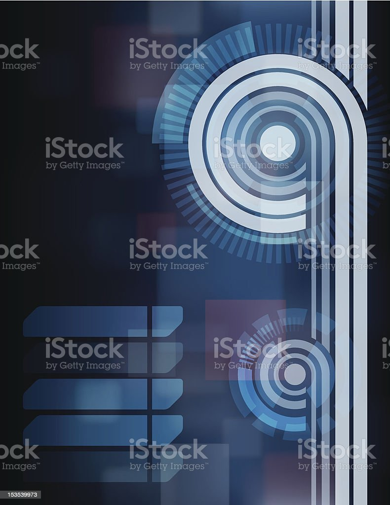 Blue Tech Abstract Background royalty-free blue tech abstract background stock vector art & more images of abstract