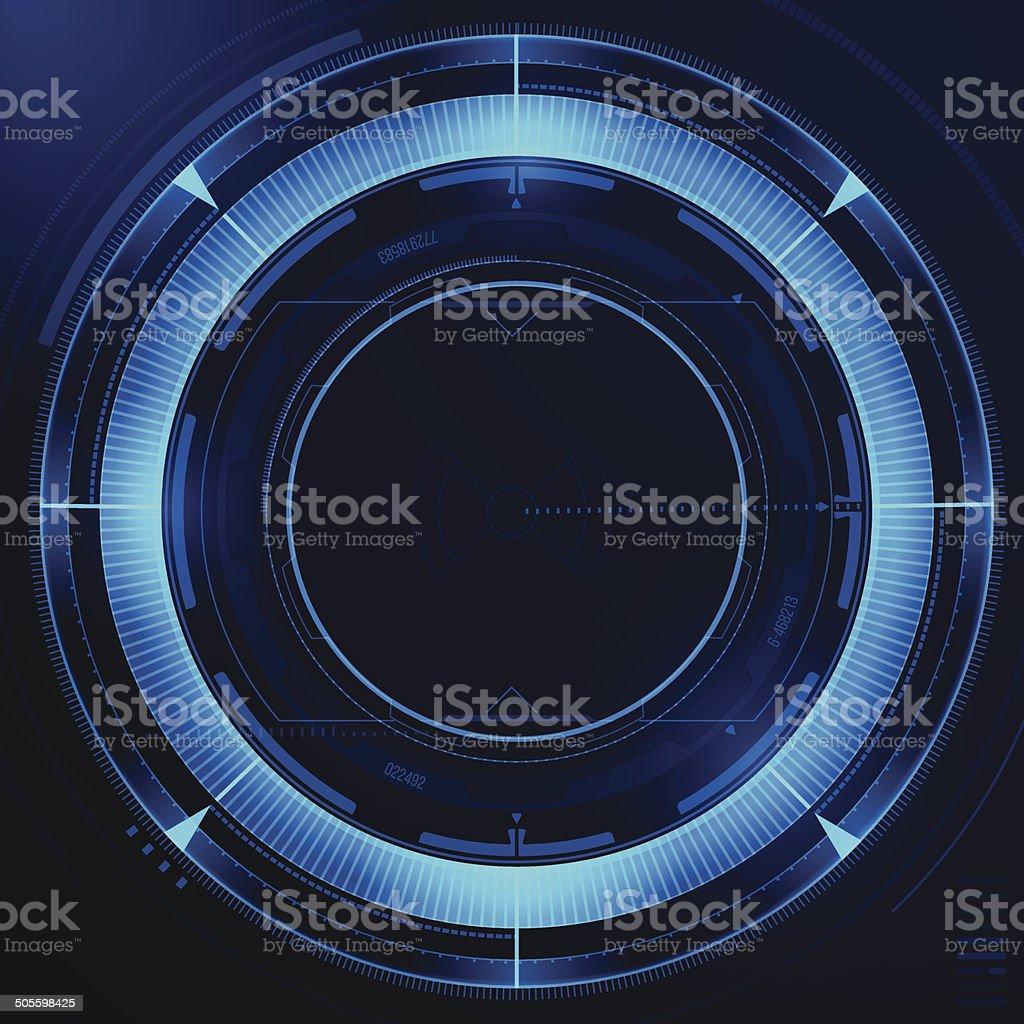 Blue Tech Background vector art illustration