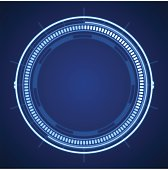 Blue tech abstract circle. EPS 10 file. Transparency effects used on highlight elements.