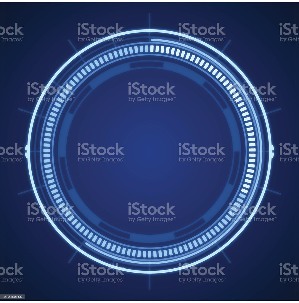Blue Tech Circle Abstract vector art illustration