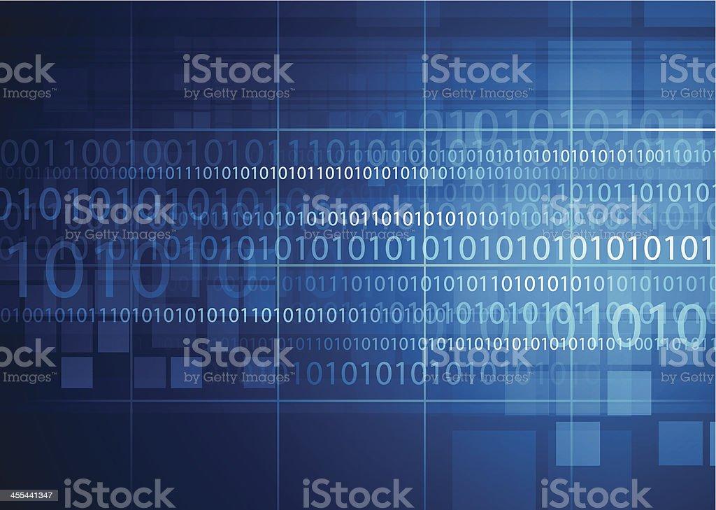 Blue technical background vector art illustration