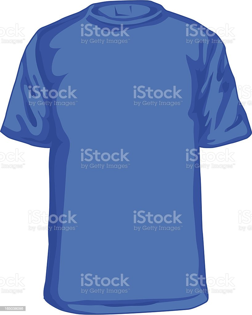 Blue tee (Adult Size T-Shirt) royalty-free stock vector art