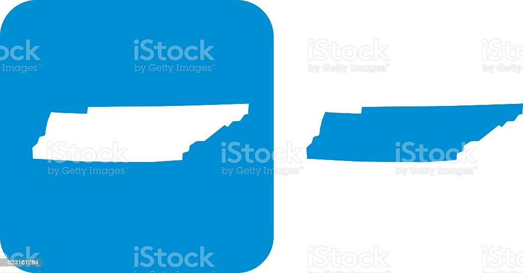 Blue Tennessee Icon vector art illustration