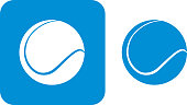 Blue Tennis Ball Icons