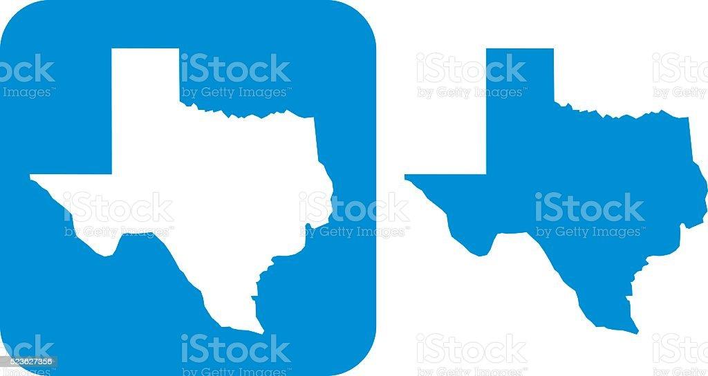 Icône de bleu, au Texas - Illustration vectorielle