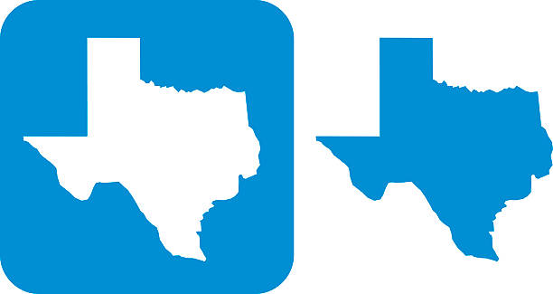 Blue Texas icon Vector illustration of blue Texas icons. texas stock illustrations