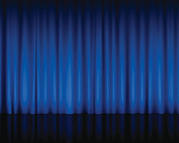 blue theater vorhang - plüsch stock-grafiken, -clipart, -cartoons und -symbole
