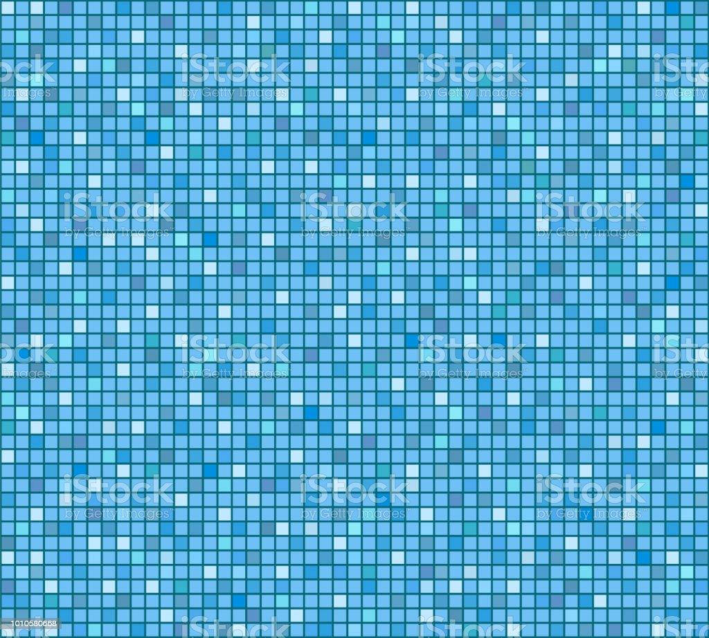 Fond Mosaique Bleu Carrelage Salle De Bain Ou La Piscine