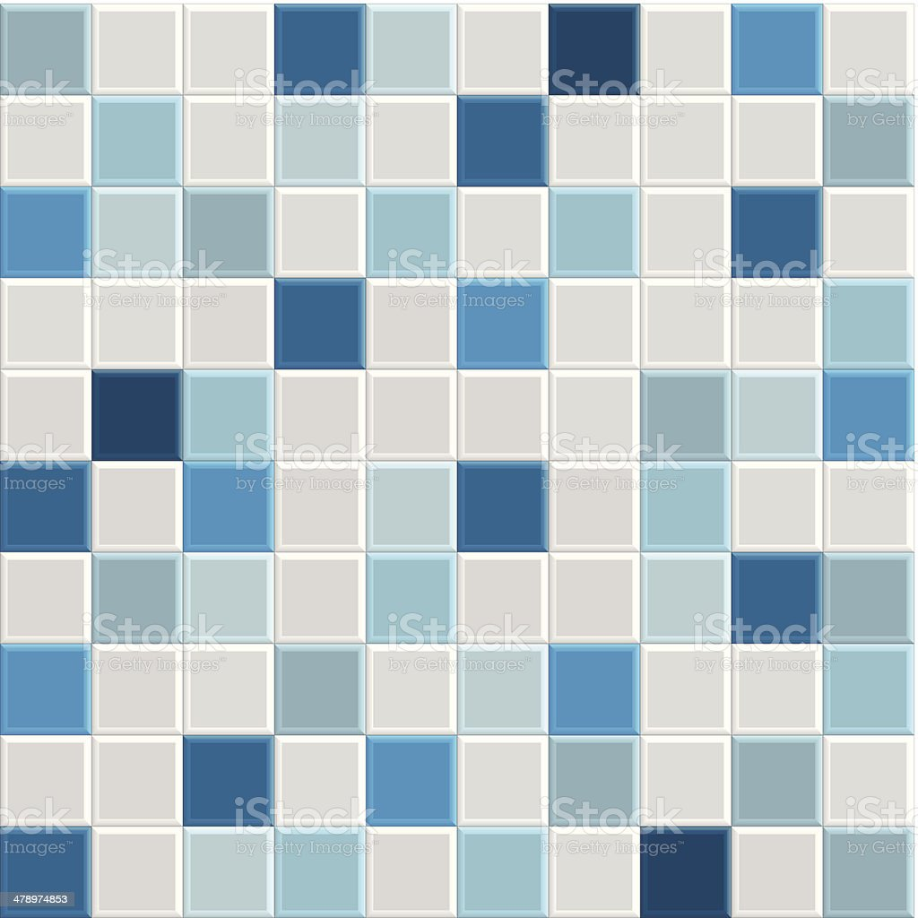 Blue Tile Texture Stock Vector Art & More Images of Architecture ...