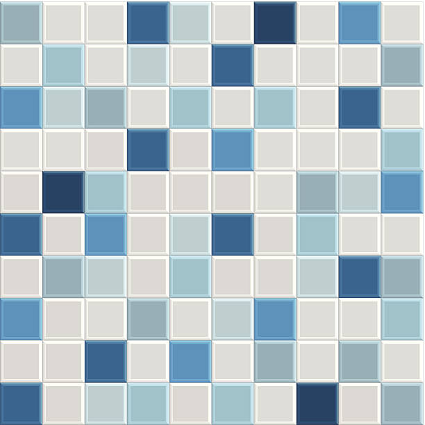 blue tile texture blue square tile texture of wall and floor, tile interior of bathroom, pool, kitchen, vecto bathroom patterns stock illustrations