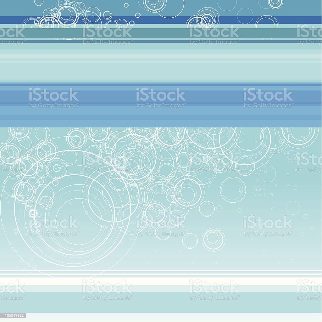 Blue tone abstract background with white circles royalty-free stock vector art