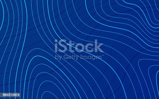Blue horizontal topographic background.