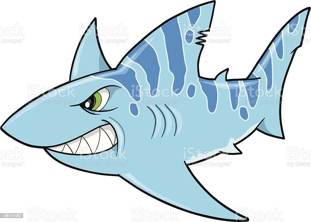 Blue Tough Shark Vector royalty-free blue tough shark vector stock vector art & more images of animal