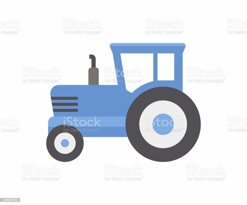 Blue Tractor icon blue tractor icon - stockowe grafiki wektorowe i więcej obrazów gospodarstwo royalty-free