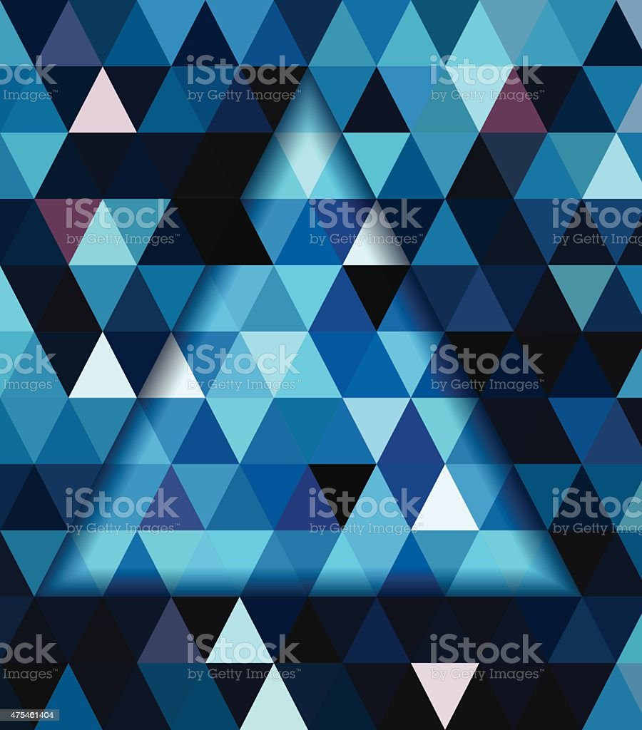 Blue Triangle And Dark Blue Shadow Background Stock