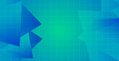 Blue triangle background geometric abstract futuristic design. trendy gradients composition. Eps10 vector.