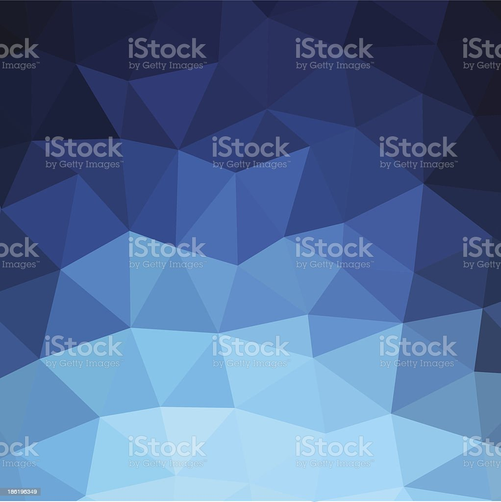 Blue Triangle Background royalty-free stock vector art