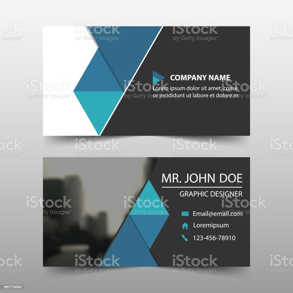 Blue triangle corporate business card name card template horizontal blue triangle corporate business card name card template horizontal simple royalty free blue fbccfo Choice Image
