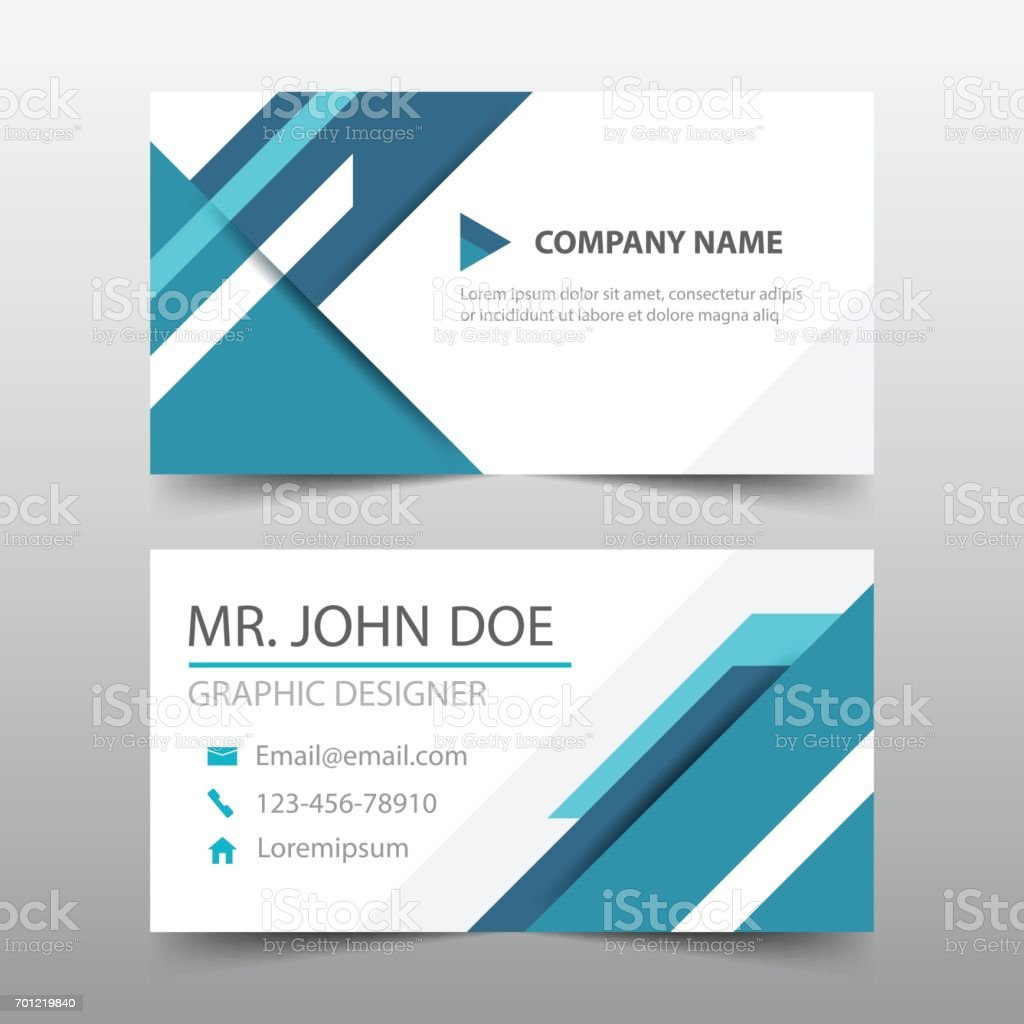 Blue triangle corporate business card name card template horizontal blue triangle corporate business card name card template horizontal simple royalty free blue triangle corporate flashek