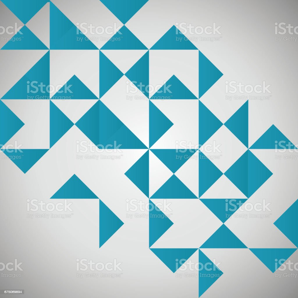 Geometry Template | Blue Triangle Geometry Template Design Stock Vector Art More