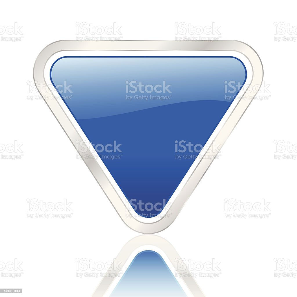 blue triangle icon royalty-free stock vector art