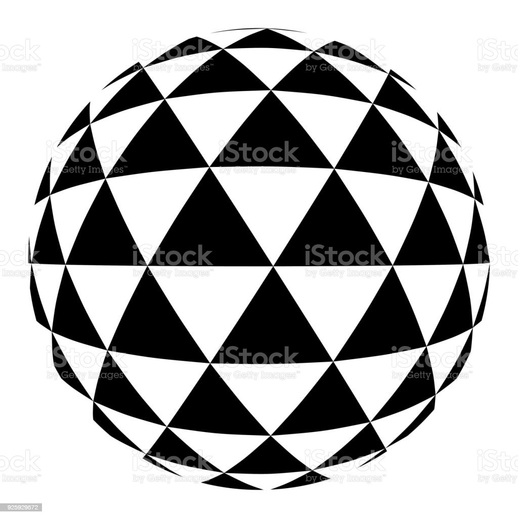 blue triangle sphere vector art illustration