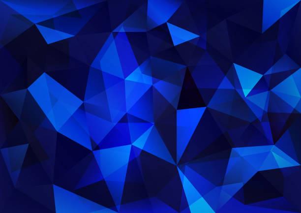 blue triangle - dark blue stock illustrations