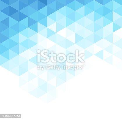 istock Blue triangles 6 1194137754