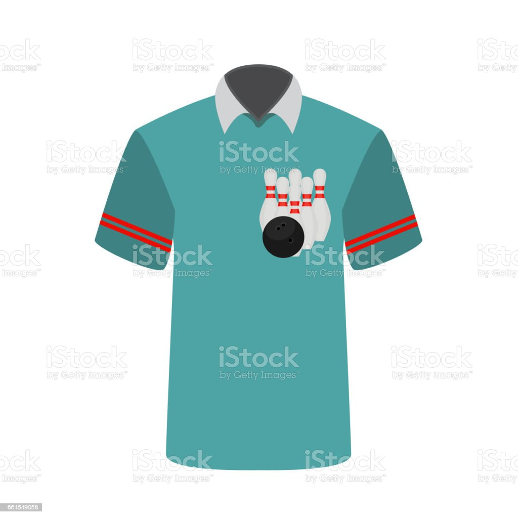 Blue T-shirt Player with the image of bowling skittles and ball royalty-free blue tshirt player with the image of bowling skittles and ball stock vector art & more images of adult