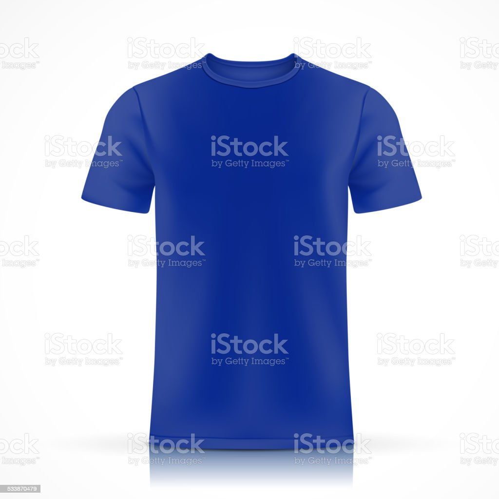 Blue Tshirt Template Stock Vector Art More Images Of 2015