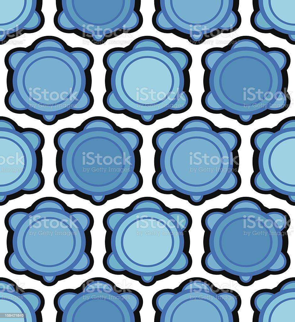 blue turtle wallpaper royalty-free stock vector art