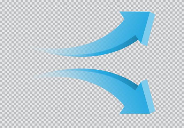 stockillustraties, clipart, cartoons en iconen met blauwe dubbele pijl 3d curve richting kleurovergang transparant op de geruite achtergrond teken symbool vectorillustratie. - kromme