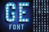 Blue ultimate realistic lamp board alphabet