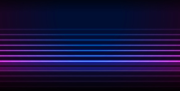 Blue ultraviolet neon laser lines technology minimal background