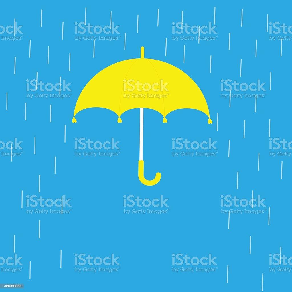 Blauen Schirm Und Regen Linien Vorlage Flatdesign Stock Vektor Art ...