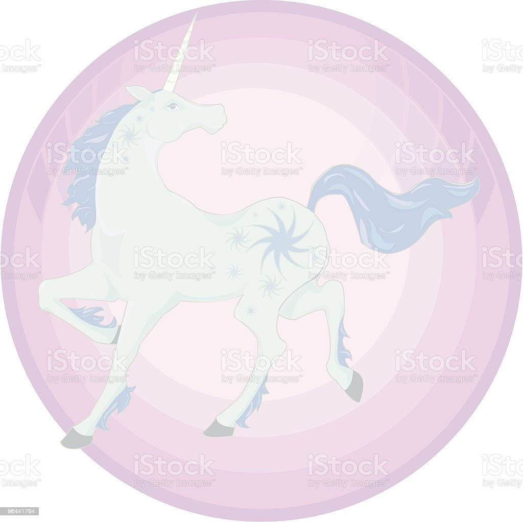 blue unicorn icon - Royalty-free Animal stock vector