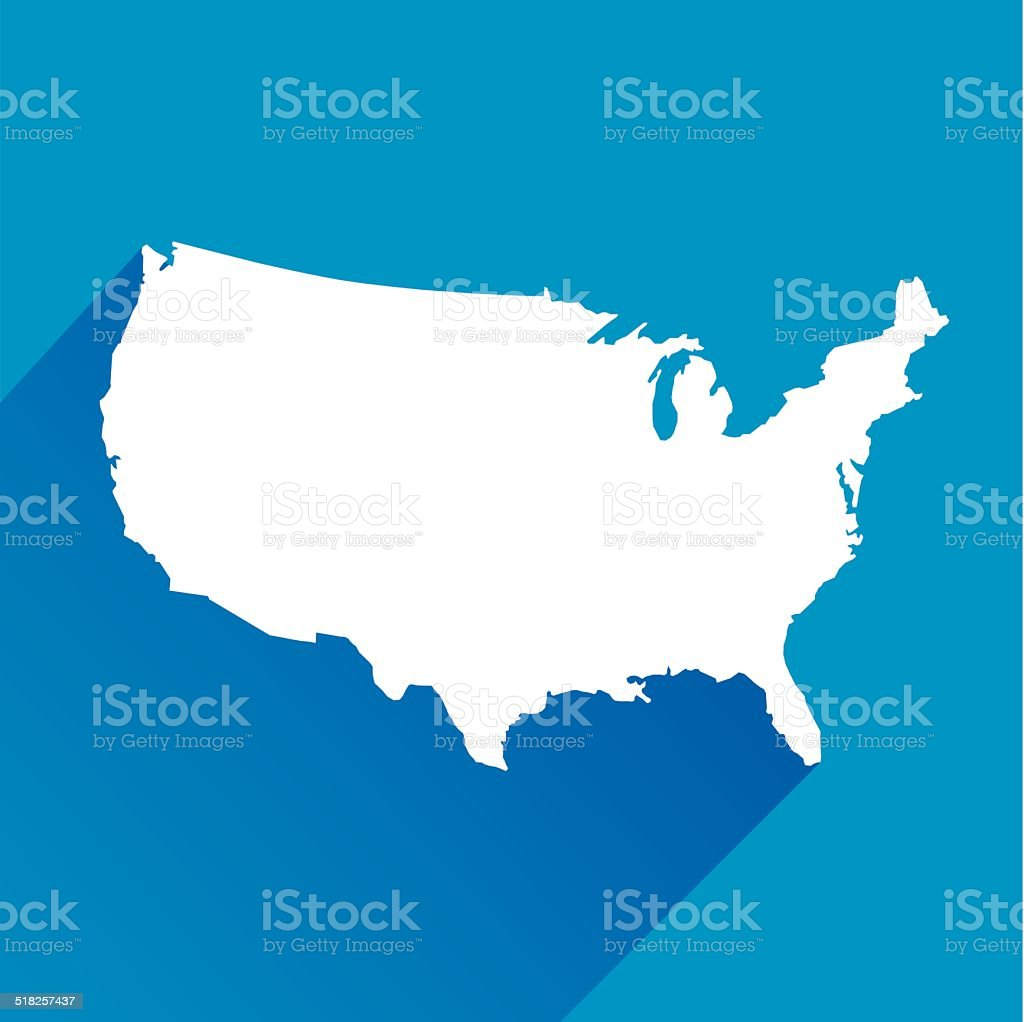 Blue United States Icon vector art illustration
