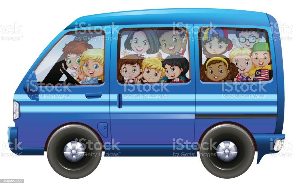 royalty free kids in van clip art vector images illustrations rh istockphoto com van clipart van clipart images