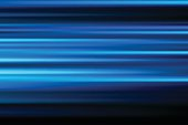 blue vector abstract speed motion blur of night lights in the city long exposure background
