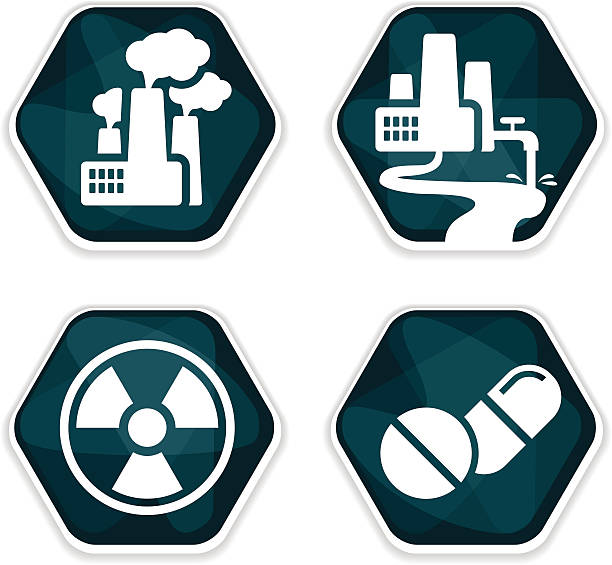 blaue vektor-krebs risiko faktoren icons set - methamphetamin stock-grafiken, -clipart, -cartoons und -symbole