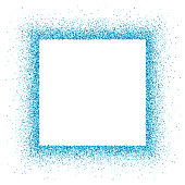 Blue vector empty glitter circle frame