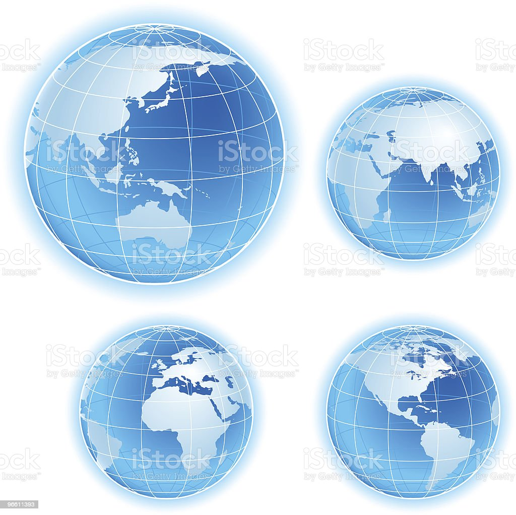 blue vector globe - Royalty-free Blue stock vector
