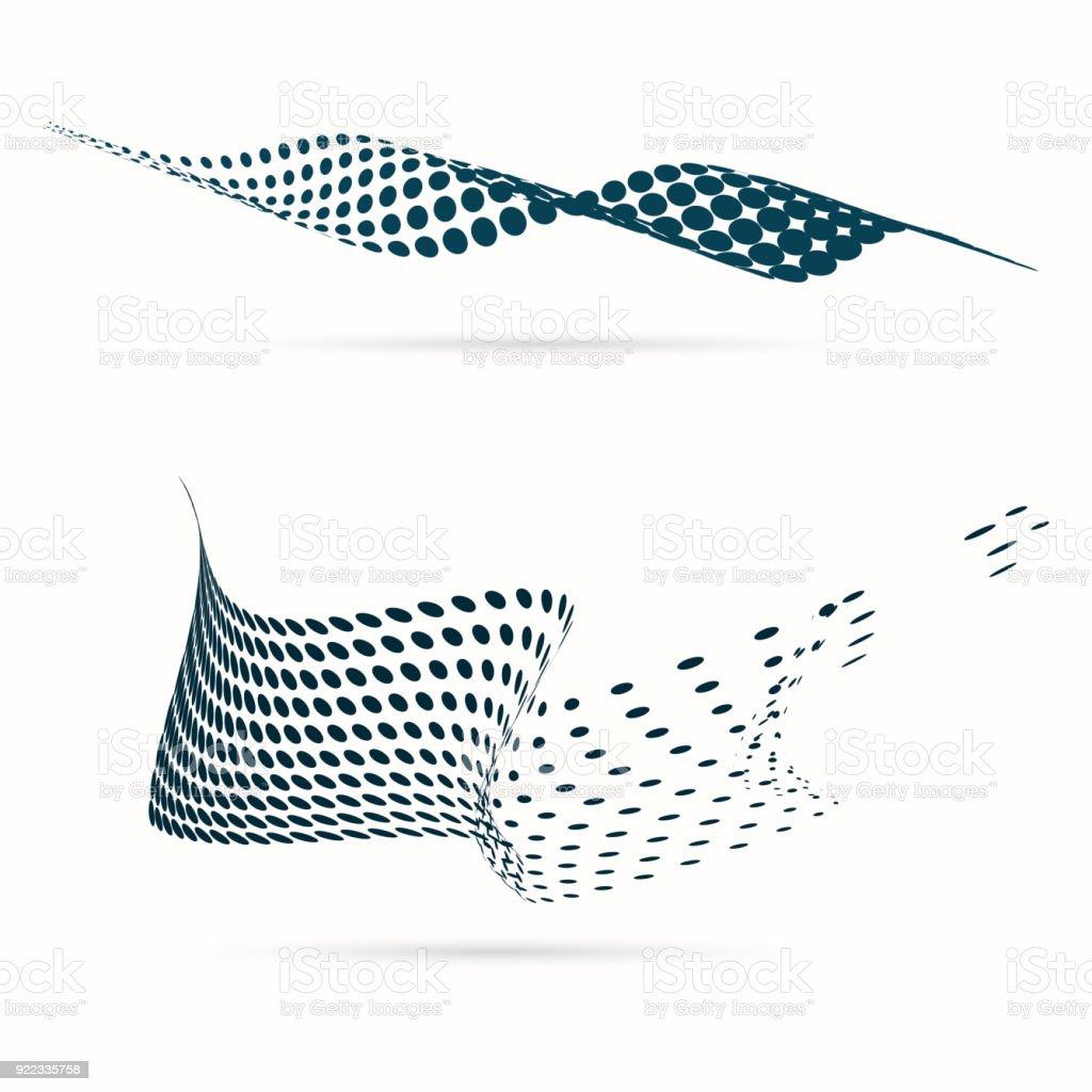 Blue Vector Halftone Dots vector art illustration